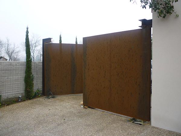 Lavorazione acciaio corten reggio emilia mobili arredo for Cancelli da giardino